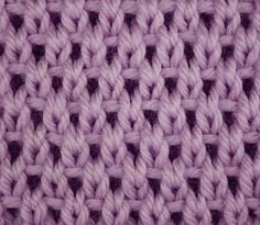 Every Saturday I will share with you a new stitch.  Today's stitch is: Eyelet Moss Stitch.   Right side   See how simple knit, purl and s...