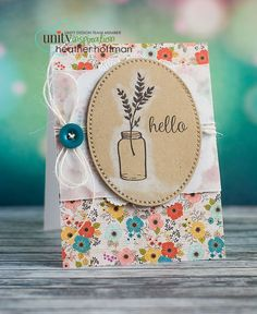 Outlining with Pigment Ink - Unity Stamp Co Hop - with Quick Tip Video