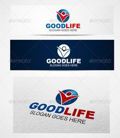 Logo goodlife templates — Vector EPS #soft #good • Available here → https://graphicriver.net/item/logo-goodlife-templates/3108249?ref=pxcr