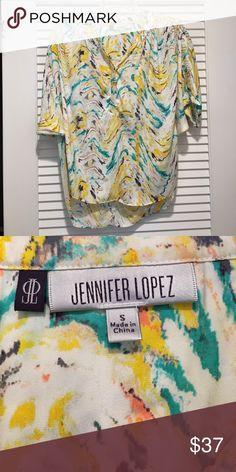 JENNIFER LOPEZ multi colored quarter sleeve blouse JENNIFER LOPEZ multi colored blouse. Barely worn. Jennifer Lopez Tops Blouses