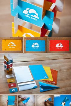 Dilly Dally is a toy store built on 'inspiring play' and igniting the imagination of children. Each component of their brand identity incorporated a sense of play, interaction and endless exploration. - StockLogos.com Ultimate creative business cards collection