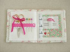 Pretty little needle book - pictorial.