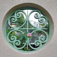 Grill Door Design, Masonry Wall, Florida Living, Architecture Details, Wrought Iron, Metal Working, Windows, Doors, Mirror