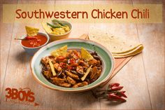 Living in South Alabama, we love our spicy flavors. This Southwestern Chicken Chili recipe has all the fixings of the perfect southern dish with some Mexican spice! Chili Recipes, Slow Cooker Recipes, Crockpot Recipes, Southwestern Chicken Chili Recipe, Easy Roast Chicken, Cheap Chicken Recipes, Leftover Rotisserie Chicken, Southern Dishes, Potato Dishes