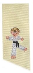 Tiny Karate Boy   Mini Designs   Machine Embroidery Designs   SWAKembroidery.com Band to Bow