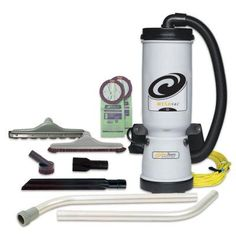 ProTeam Commercial Backpack Vacuum, MegaVac Vacuum Backpack with Blower Tool, Felt and Horse Hair Hard Surface Tool Kit, 10 Quart, Corded Canister Vacuums Central Vacuum Systems Handheld Vacuums Robotic Vacuums Stick Vacuums Construction Clean Up, Backpack Vacuum, Commercial Vacuum, Canister Vacuum, Tool Belt, Deep Cleaning, Floor Cleaning, Horse Hair, Surface