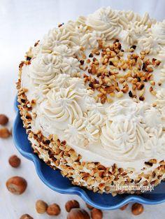 Tort kawowy z orzechami, tort kawowy, tort z orzechami, kawa, orzechy http://najsmaczniejsze.pl #food #cake #tort #kawa #coffee #orzechy