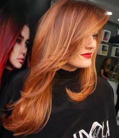 auburn hair with subtle highlights