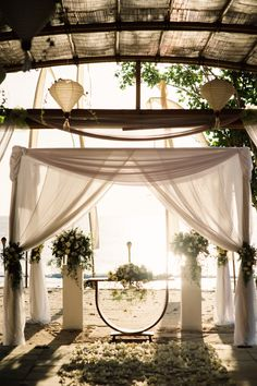 Get married on the gentle white sands of Jimbaran Bay in Bali at Belmond Jimbaran Puri. #BelmondWeddings