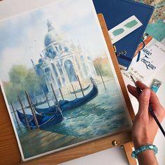 Watercolorist: @mashakonstant #waterblog #акварель #aquarelle #drawing #art #artist #artwork #painting #illustration #watercolor #aquarela