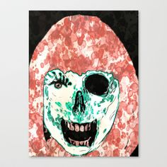ADH Zombie Watercolor Stretched Canvas by ADH Graphic Design - $85.00
