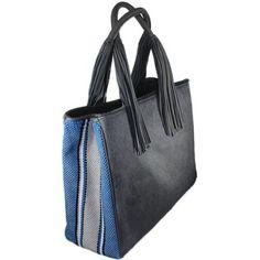 IIONI Shopper | Blue & Grey – LILA Fashion International $650.00