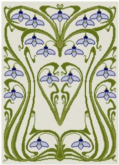 art nouveau cross stitch pattern - Yahoo!検索(画像)