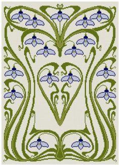 art nouveau cross stitch pattern - Yahoo!検索(画像)