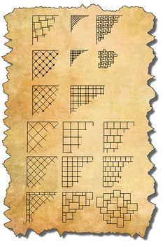 Examples of tiling patterns.
