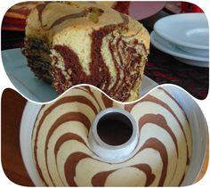 Ciambellone+zebrato Sweet Recipes, Cake Recipes, Dessert Recipes, Italian Desserts, Mini Desserts, Sicilian Recipes, Chiffon Cake, Sweet Cakes, Cake Cookies