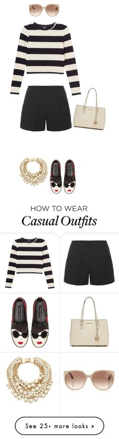 """""""Casually glamorous"""" by ladygroovenyc on Polyvore featuring Kate Spade, Monki, TIBI, Alice + Olivia, Tom Ford, MICHAEL Michael Kors and trending"""