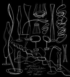 Sketches of Artemide light by Karim Rashid http://on.fb.me/1uAvU5x