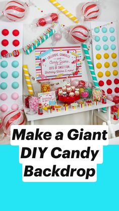 Pull this Candy Themed Birthday Party together in no time with a full pack of FREE party printables, a Candy Charcuterie Board, and DIY Backdrop of oversized candies. Candy Buttons, Birthday Party Themes, Party Themes For Kids, 10th Birthday, Birthday Ideas, Candy Party, Diy Party, Party Ideas, Party Planning