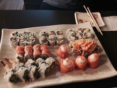 Sushi times Sushi Time, Times, Ethnic Recipes, Food, Meal, Essen, Hoods, Meals, Eten