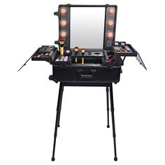 Studio To Go Makeup Case with Light - Pro Makeup Station - BLACK | SHANY Cosmetics