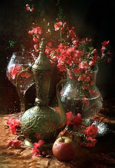 Love Surreal Art Flowers Flower Painting Still Life