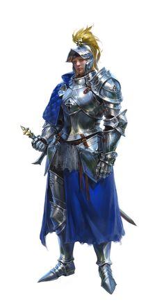 f Fighter Plate Armor Helm Cloak Sword ArtStation Knight by Sora Kim lg Fantasy Male, Fantasy Armor, Medieval Fantasy, Dark Fantasy, Game Character Design, Character Concept, Character Art, Character Reference, Dnd Characters