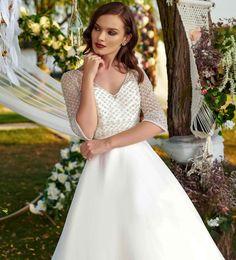 Rochia de mireasa-RAIA. Colectia THE GARDEN STORY by AMANDA DI VELLI-2020. Bridal Dresses, Wedding Gowns, Amanda, White Dress, Satin, Garden, Collection, Fashion, Bride Gowns