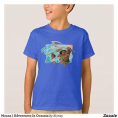 Moana | Adventures In Oceania. Producto disponible en tienda Zazzle. Vestuario, moda. Product available in Zazzle store. Fashion wardrobe. Regalos, Gifts. Link to product: http://www.zazzle.com/moana_adventures_in_oceania_t_shirt-235964179214187433?CMPN=shareicon&lang=en&social=true&rf=238167879144476949 #camiseta #tshirt #moana