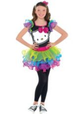 Girls Rainbow Hello Kitty Costume - Party City