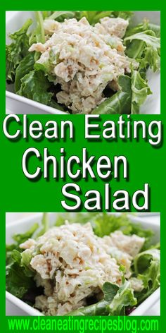 Clean eating chicken salad #cleaneating #healthyeating #salad