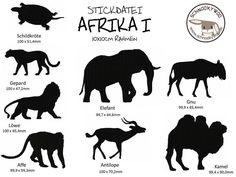 Stickmuster - Stickdatei Afrika I - ein Designerstück von Schnookywoo bei DaWanda