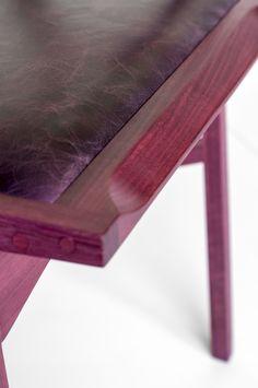 Atibaia chair purpleheart wood // Cadeira Atibaia em madeira Roxinho // design Paulo Alves & Luís Suzuki // photo Lucas Rosin