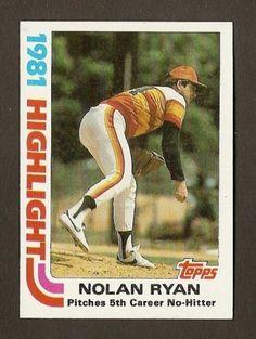 ON SALE: MINT 1982 Topps Highlight NOLAN RYAN 5th Career No-Hitter #5 www.thesportjunky.com