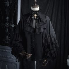 ZJ Story -The Graveyard of the Dragons- Gothic Ouji Lolita Blouse Lolita Fashion, Gothic Fashion, Victorian Fashion, Old Fashion Dresses, Fashion Outfits, Lolita Gothic, Gothic Men, Pretty Outfits, Cool Outfits