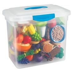 Learning Resources New Sprouts Classroom Play Food Set, Assorted Colors, Grades Pre-K - 3 Learning Resources, Kids Learning, Poupées Our Generation, Play Food Set, Barbie Food, Doll Food, Road Trip Snacks, Dramatic Play Centers, Toy Kitchen