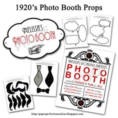 Roarin' 20s Photo Booth Props