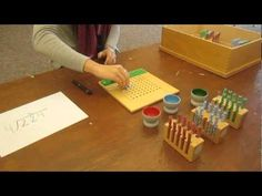 """▶ Bluffview Montessori School: Long Division Using """"Test Tubes"""" - YouTube"""