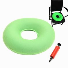 Inflatable Rubber Hemorrhoid Pressure Ulcer Round Pillow Seat Cushion 37cm