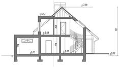Projekt domu Arystoteles 144,50 m² - koszt budowy - EXTRADOM My Home Design, House Design, House Front, My House, A Frame Cabin, Attic Rooms, Country House Plans, Facade House, House Layouts