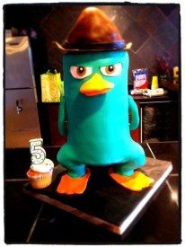perry the platypus cake! Agent P