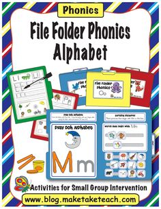 File Folder Phonics Alphabet (from Make, Take & Teach on TpT)