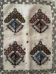 Embroidery Monogram, Folk Art, Bohemian Rug, Cross Stitch, Traditional, Rugs, Antiques, Fabrics, Decor