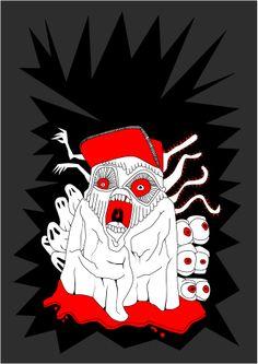 """I hate horor""  illustration"