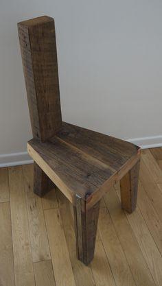 Aufgearbeiteten Holz Esszimmer Stuhl. Handgemachte von TicinoDesign