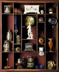 Objects for a Kunstkammer, or cabinet of curiosities, belonging to Georg Laue