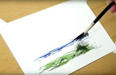 Your fan brush is more versatile than you'd think! Here are 4 clever watercolor techniques using your regular ol' fan brush.