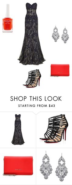 """""""Brodway Red Carpet"""" by gretchiebear on Polyvore featuring Jovani, Christian Louboutin, Givenchy, 1928 and RedCarpet"""