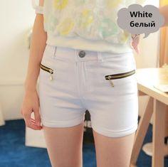 womens summer short pant spring Plus Size shorts Elastic high waist shorts women double zipper female sexy shorts 10 colors