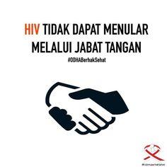 HIV tidak menular melalui jabatan tangan